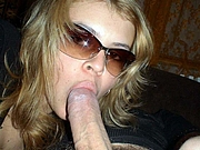 Girlfriend with Sunglasses On Sucks Dick