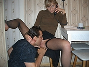Mature Russian Pussy Licked by Neighbor