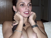 Big Boobs Topless Wife Covering Her Beautiful Tits