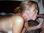 Mature Mommy Swallowing a Big Black Dick