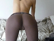 XXX Camel Toe of Ass in Tight Yoga Pants
