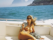 Hottie Wife Topless on the Boat