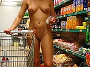 Mature Wife Flashes Totally Nude in Store