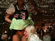 Cute Girl Flashes Pussy at Oktoberfest