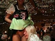 Cute Girl Flashes Pussy at Oktoberfest