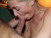 Mature Married Wife Sucks Dick of a Friend