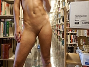 Kinky Playful Amateur Pussy Flashes in Library