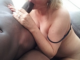 Hot Sexy White Mom Swallows a Black Dick for Meal