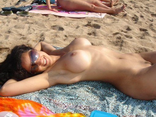 Incredible Hot Wife Topless Nude at the Beach
