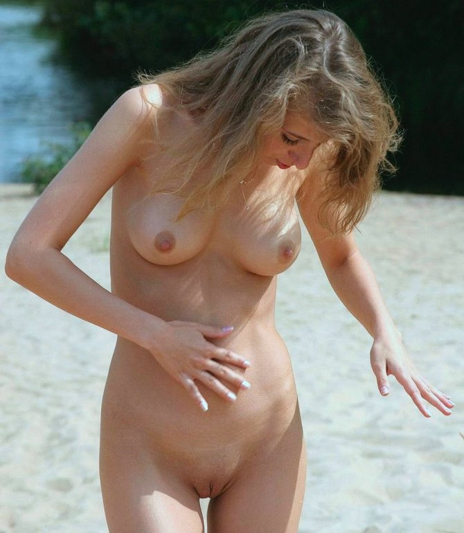 Naked Woman at the Beach