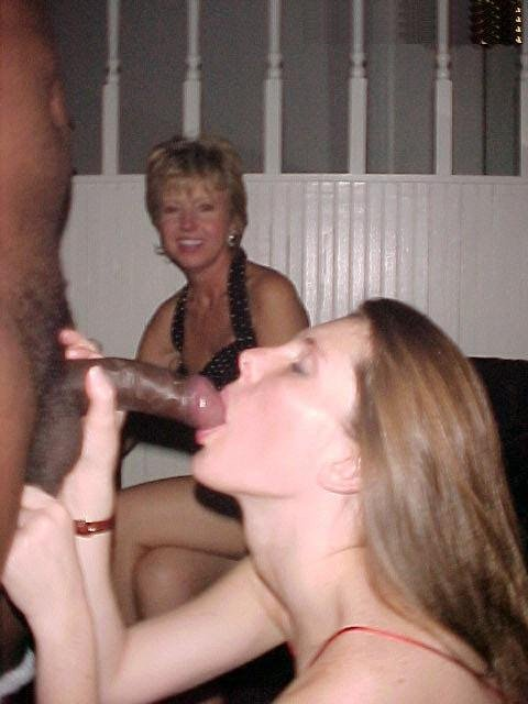 Wife Encouaraged to Suck Black Dick