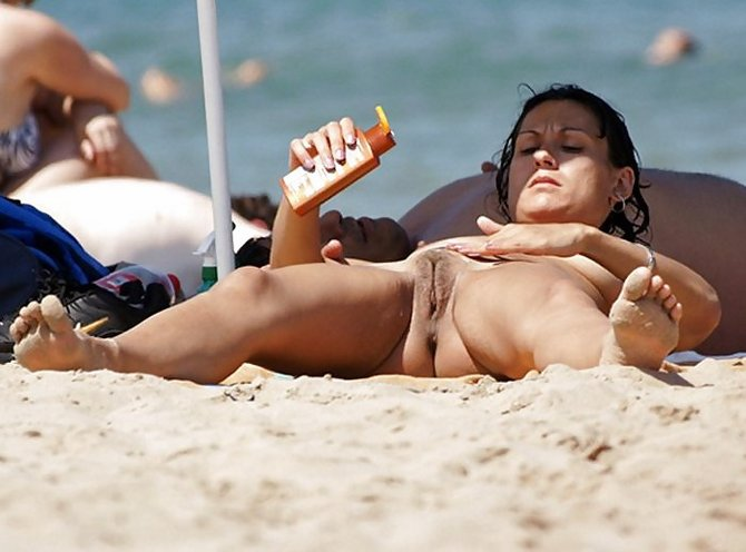 Nudist fun amateur beach