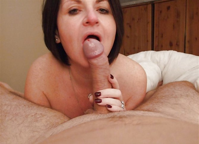 Caught step mom sucking dick
