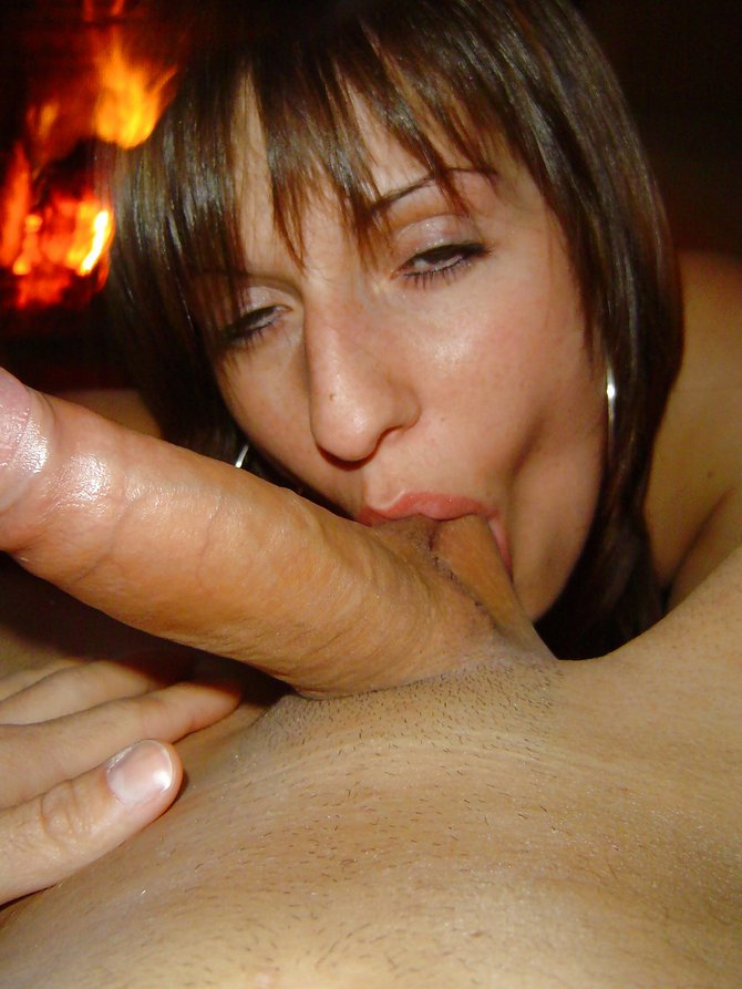 Friends mom blowjob sucking cock so good
