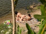 Naked Couple Caught Fucking on the Beach