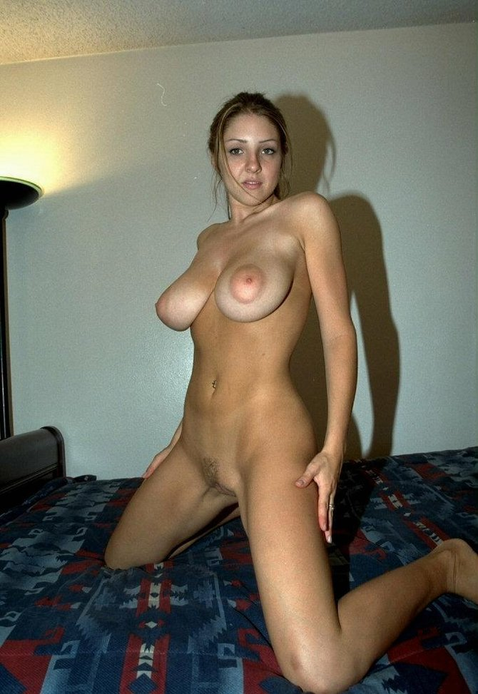 Sexy Lady With Beautiful Big Breasts Naked At Home